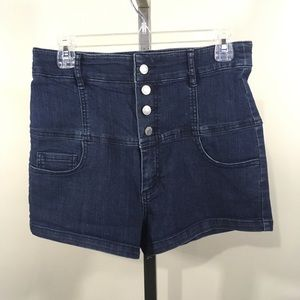 Forever 21 High Waisted Stretch Short Jean Shorts